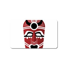 Africa Mask Face Hunter Jungle Devil Magnet (name Card)