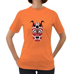 Africa Mask Face Hunter Jungle Devil Women s Dark T Shirt