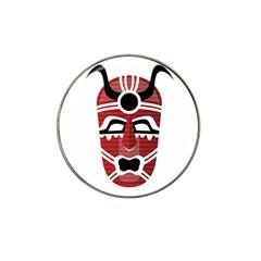 Africa Mask Face Hunter Jungle Devil Hat Clip Ball Marker (4 Pack)