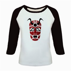 Africa Mask Face Hunter Jungle Devil Kids Baseball Jerseys