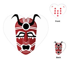 Africa Mask Face Hunter Jungle Devil Playing Cards (heart)