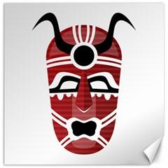 Africa Mask Face Hunter Jungle Devil Canvas 20  X 20