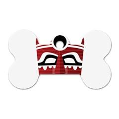 Africa Mask Face Hunter Jungle Devil Dog Tag Bone (one Side)