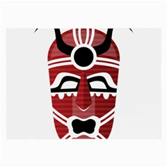 Africa Mask Face Hunter Jungle Devil Large Glasses Cloth