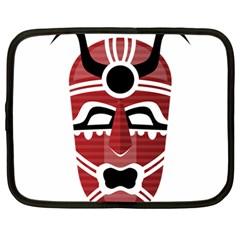 Africa Mask Face Hunter Jungle Devil Netbook Case (large)