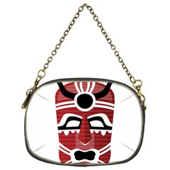 Africa Mask Face Hunter Jungle Devil Chain Purses (one Side)