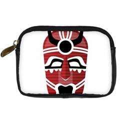 Africa Mask Face Hunter Jungle Devil Digital Camera Cases