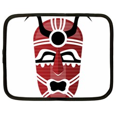 Africa Mask Face Hunter Jungle Devil Netbook Case (xl)