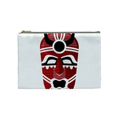 Africa Mask Face Hunter Jungle Devil Cosmetic Bag (medium)