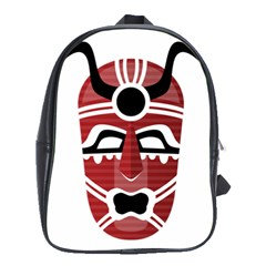 Africa Mask Face Hunter Jungle Devil School Bag (large)