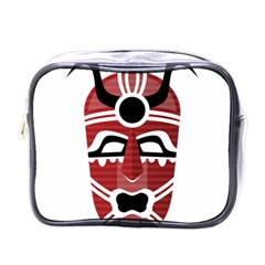Africa Mask Face Hunter Jungle Devil Mini Toiletries Bags
