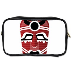 Africa Mask Face Hunter Jungle Devil Toiletries Bags 2 Side