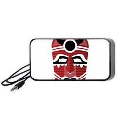 Africa Mask Face Hunter Jungle Devil Portable Speaker
