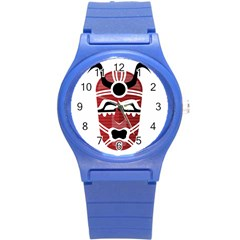 Africa Mask Face Hunter Jungle Devil Round Plastic Sport Watch (s)
