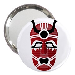 Africa Mask Face Hunter Jungle Devil 3  Handbag Mirrors