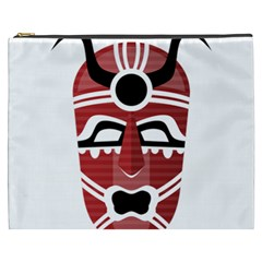 Africa Mask Face Hunter Jungle Devil Cosmetic Bag (xxxl)