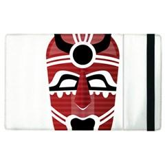 Africa Mask Face Hunter Jungle Devil Apple Ipad 2 Flip Case