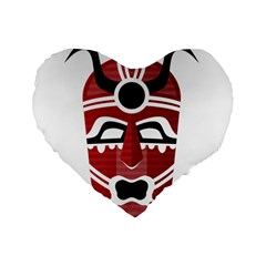 Africa Mask Face Hunter Jungle Devil Standard 16  Premium Heart Shape Cushions