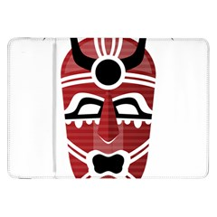 Africa Mask Face Hunter Jungle Devil Samsung Galaxy Tab 8 9  P7300 Flip Case