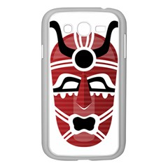 Africa Mask Face Hunter Jungle Devil Samsung Galaxy Grand Duos I9082 Case (white)