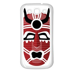 Africa Mask Face Hunter Jungle Devil Samsung Galaxy S3 Back Case (white)