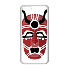Africa Mask Face Hunter Jungle Devil Apple Iphone 5c Seamless Case (white)