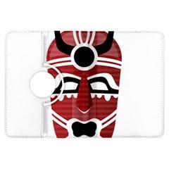 Africa Mask Face Hunter Jungle Devil Kindle Fire Hdx Flip 360 Case