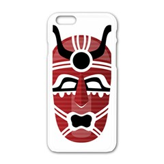 Africa Mask Face Hunter Jungle Devil Apple Iphone 6/6s White Enamel Case