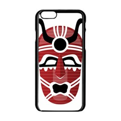 Africa Mask Face Hunter Jungle Devil Apple Iphone 6/6s Black Enamel Case