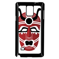 Africa Mask Face Hunter Jungle Devil Samsung Galaxy Note 4 Case (black)