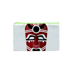 Africa Mask Face Hunter Jungle Devil Cosmetic Bag (xs)
