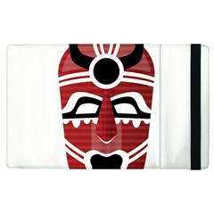 Africa Mask Face Hunter Jungle Devil Apple Ipad Pro 12 9   Flip Case