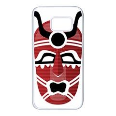 Africa Mask Face Hunter Jungle Devil Samsung Galaxy S7 White Seamless Case