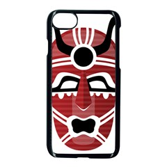 Africa Mask Face Hunter Jungle Devil Apple Iphone 7 Seamless Case (black)
