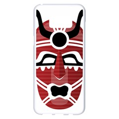 Africa Mask Face Hunter Jungle Devil Samsung Galaxy S8 Plus White Seamless Case