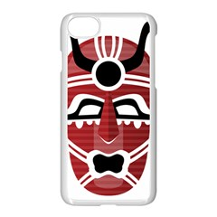 Africa Mask Face Hunter Jungle Devil Apple Iphone 8 Seamless Case (white)