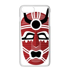 Africa Mask Face Hunter Jungle Devil Apple Iphone 8 Plus Seamless Case (white)