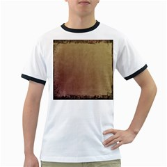 Brown Retro Ringer T Shirts