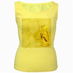 Background 1659622 1920 Women s Yellow Tank Top