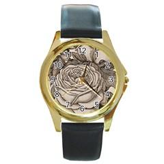 Flowers 1776630 1920 Round Gold Metal Watch