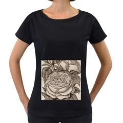 Flowers 1776630 1920 Women s Loose Fit T Shirt (black)