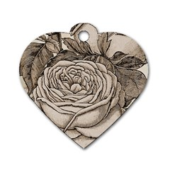 Flowers 1776630 1920 Dog Tag Heart (two Sides)