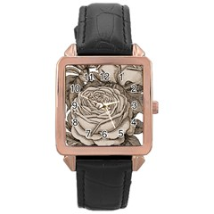 Flowers 1776626 1920 Rose Gold Leather Watch