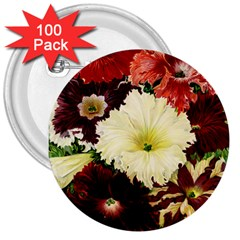 Flowers 1776585 1920 3  Buttons (100 Pack)