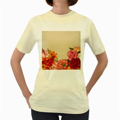 Flower 1646035 1920 Women s Yellow T Shirt