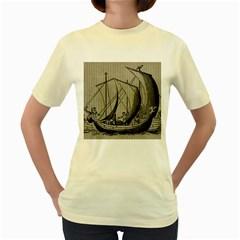 Ship 1515875 1280 Women s Yellow T Shirt
