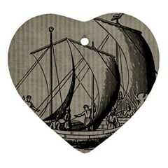 Ship 1515875 1280 Heart Ornament (two Sides)