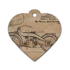 Motorcycle 1515873 1280 Dog Tag Heart (two Sides)