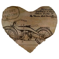 Motorcycle 1515873 1280 Large 19  Premium Heart Shape Cushions