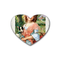 Vintage 1501591 1920 Rubber Coaster (heart)